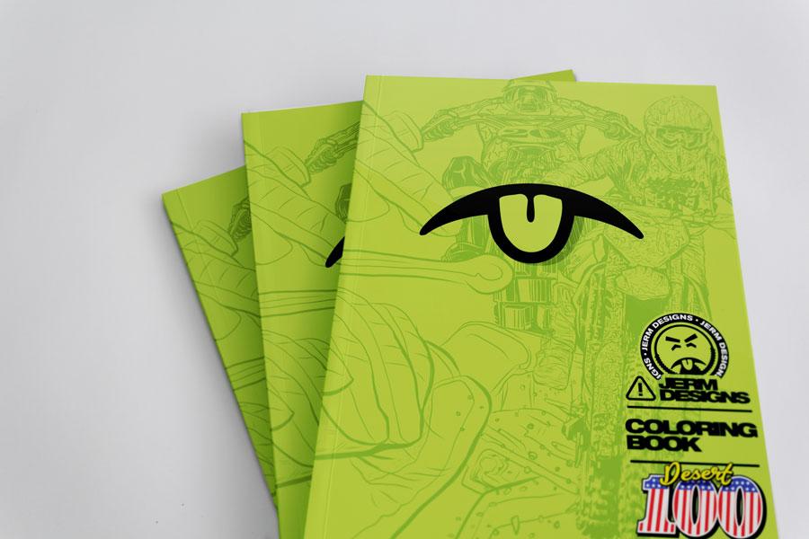 Jerm Designs Coloring Book – Desert 100 Edition